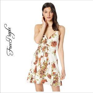 NWT Free People   Happy Hearts Floral Mini Dress